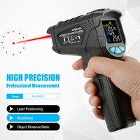 800Pro/800 Non Contact Digital infrared Thermometer Pyrometer 50~800C Aquarium laser IR Temperature Gun humidity