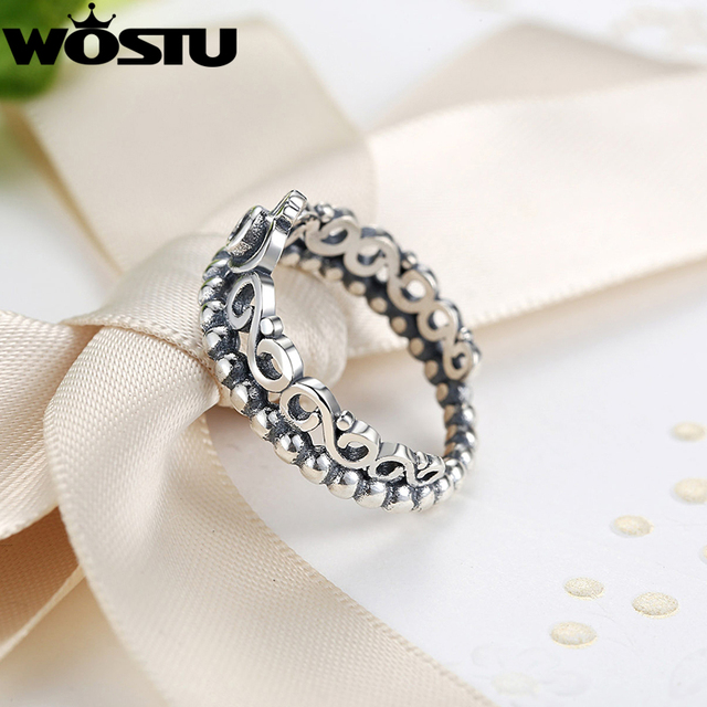 Silver Plated Crown Wedding Ring