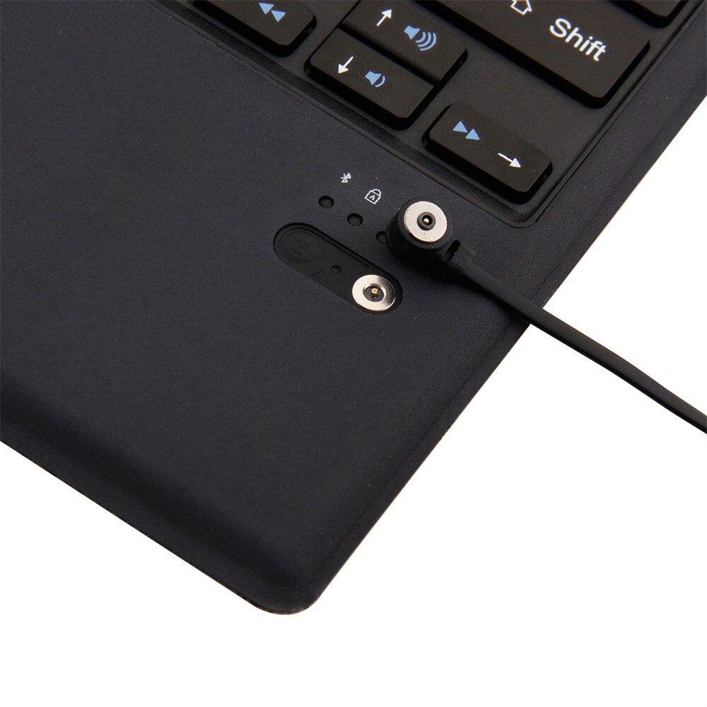 Image 5 - Светодиодный Bluetooth Беспроводной клавиатура ультра тонкая механическая клавиатура из приятного на ощупь компьютер-in Клавиатуры from Компьютер и офис