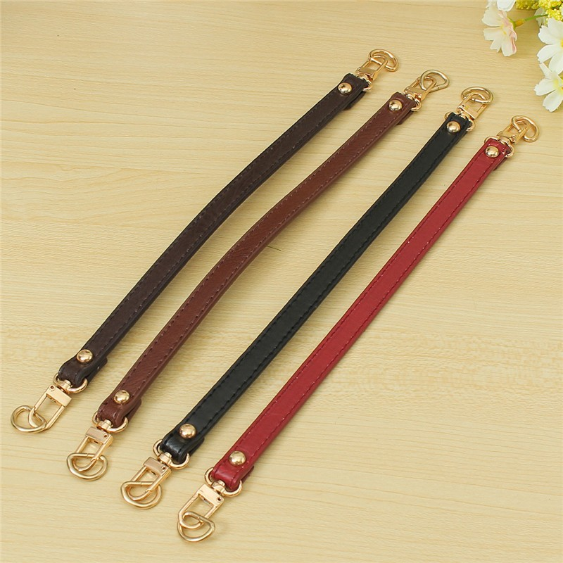 Bag Parts & Accessories Pu Leather Short Bag Strap Replacement Messenger Handbag Handle Diy Bags Belt Accessories