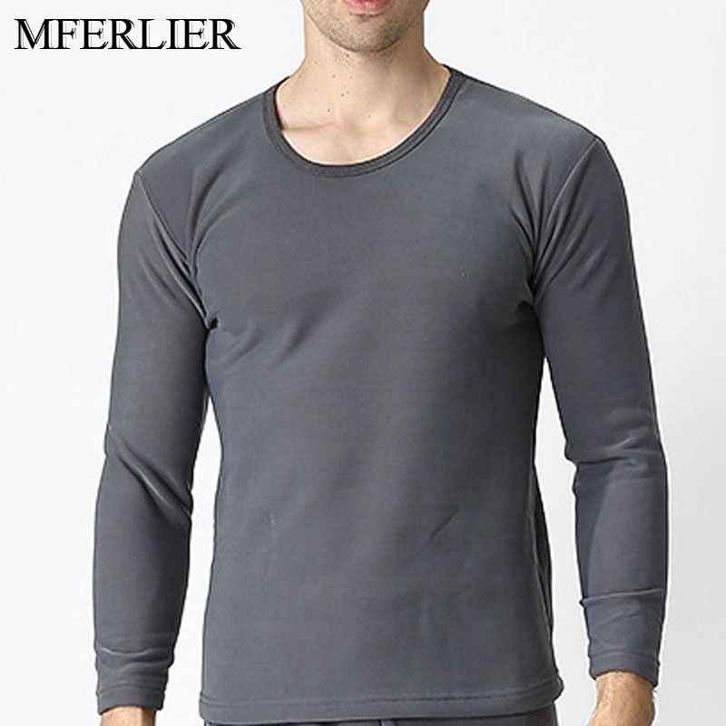 780e6415143 Autumn Winter thermal underwear 5XL 6XL 7XL 8XL 9XL O neck Bust 180cm Plus  size Fleece