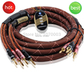 Choseal LB-5111 4N OFC Pure Copper Audiophile hi-end Speaker Cable 24K gold-plated banana to banana plug 2.5m not DIY