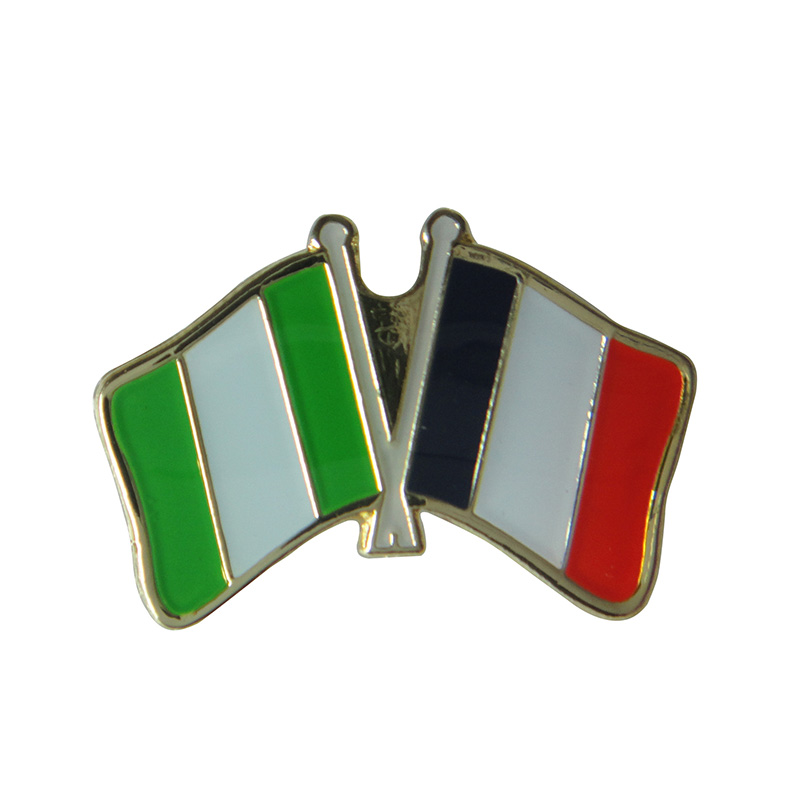 aliexpress com   buy nerilia u0026france cross flag lapel pin badge iron plated brass paints epoxy