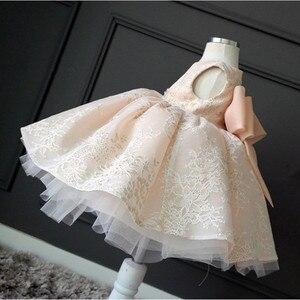 Image 4 - Childrens Wedding & party dress Flower Girl Dresses princess Girls O neck sleeveless print big bow Ball Gown Tutu Dress