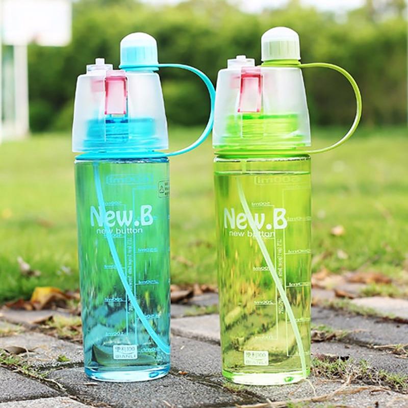 400ML/600ML Water Bottle Spray Bottle Space Leak Proof Moisturizing Cycling Sports Gym Drinking Bottles 2018