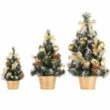 Рождественские Мини-елки, рождественские украшения, маленькая сосновая елка, помещенная на рабочий стол, Рождественский фестиваль, домашние украшения 15 см-40 см