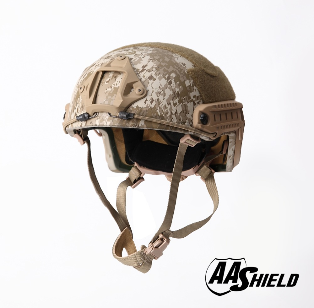 AA Shield Ballistic ACH High Cut Tactical Teijin Helmet Bulletproof FAST Aramid Safety NIJ Level IIIA Military Army AOR 1