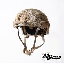 AA Shield Ballistic ACH High Cut Tactical Kevlar Helmet Bulletproof FAST Aramid Safety NIJ Level IIIA  Military Army AOR 1