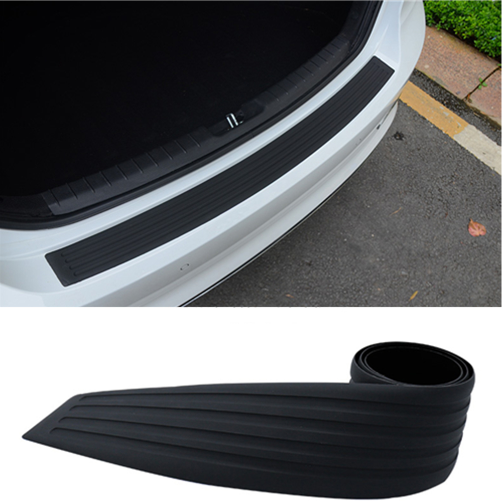 Car Trunk Rubber Styling Mouldings Rear Bumper Door Protection Trim Sticker Strip Scratch Plate Cover Auto Tuning Accessories in Car Stickers from Automobiles Motorcycles