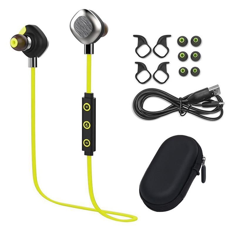 ФОТО Leegoal IPX7 Waterproof Wireless Bluetooth Earphones In Ear Stereo Magnetic Sport Headset Running With Mic Noise Cancelling