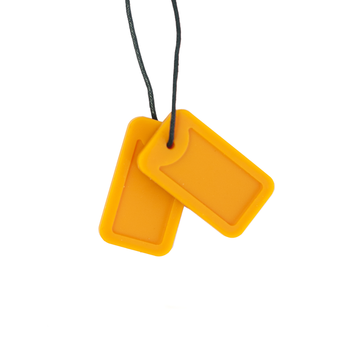 Sensory Chew Necklace Silicone Dog Tags Pendant Chewy Jewelry for Kids Adult Autism ADHD sensory chew necklace silicone dog tags pendant chewy jewelry for kids adult autism adhd