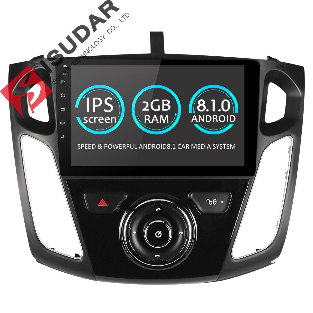 Isudar Car Multimedia Player One Din Android 8.1.0 DVD Automotivo For FORD/Focus 3 2012-2017 Wifi Radio FM GPS 4 Cores 2GB 16GB isudar car multimedia player automotivo gps autoradio 2 din for skoda octavia fabia rapid yeti superb vw seat car dvd player