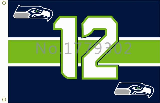 5a71d6444 Seattle Seahawks Flag Logo Only 3ft x 5ft 100% Polyester Patio, Lawn &  Garden Outdoor Flags