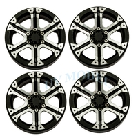 4Pcs Lot Black 1 9 Inch Beadlock Wheel Rims For 1 10 RC Truck Rock Crawler