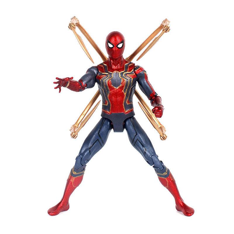 7 ''Marvel Мстители 4 Endgame Железный человек паук Бесконечность войны человек паук фигурку подарок игрушечные лошадки для детей Коллекция куклы