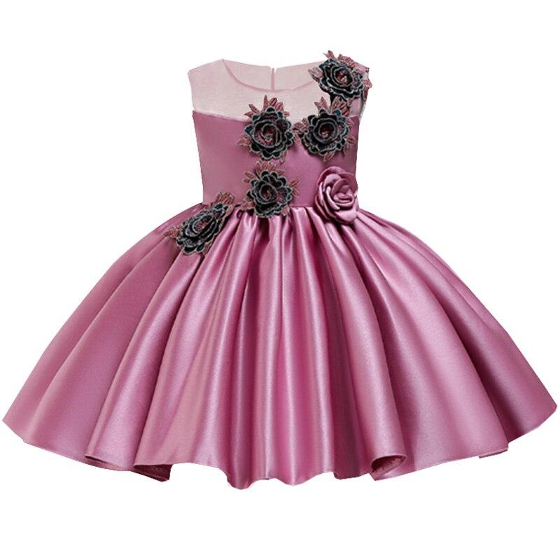 2019 Appliqu Elegant Children Clothing Flower Girl Dresses For Wedding Clothes First Communion Princess Dress Baby Tutu Costume