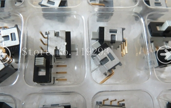 [BELLA]Authentic Japanese NKK AS-12 0.4VA miniature gold-plated curved feet 3 feet 2 files toggle switch--50PCS/LOT