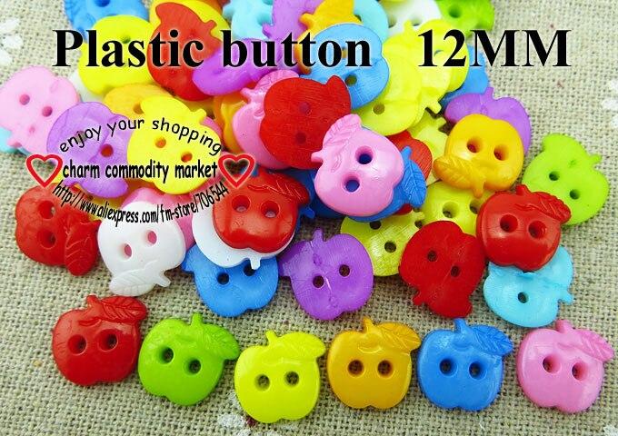 АКЦИЯ 100 шт смешанные формы много цветов Сделай Сам Скрапбукинг Мультяшные кнопки пластиковые кнопки детская одежда швейные принадлежности P-001 - Цвет: 13
