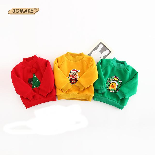 Navidad Animal Bordado Ropa de Los Niños Suéter de Lana Gruesa Cálido Niños Hoodies de Las Muchachas Sudadera Chaqueta de Los Niños Ropa de Bebé