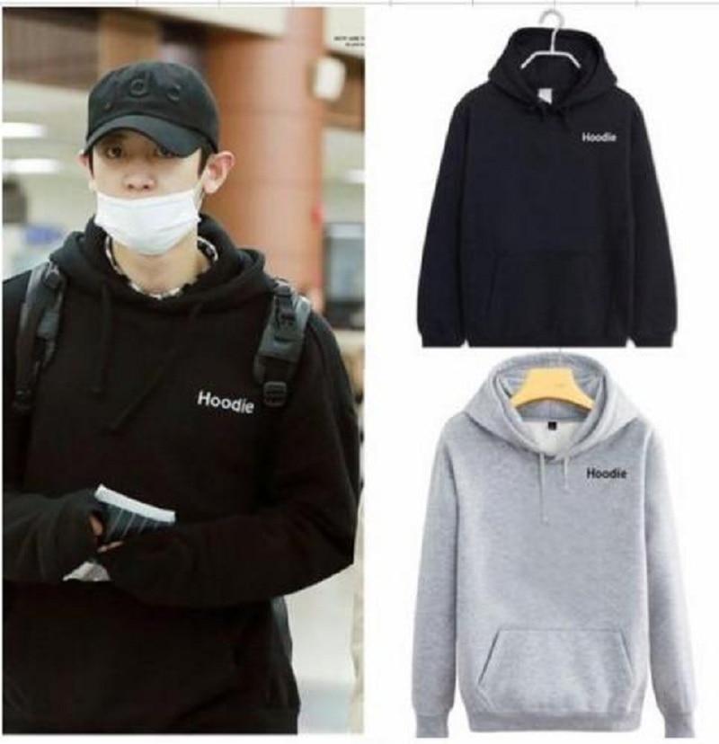 Mainlead Kpop EXO Chanyeol Airport Fashion Cap Hoodie Unisex Coat Sweatershirt