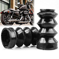 39mm Rubber Front Fork Boots Shock Gaiters For Harley Davidson Iron 883 XL883 Fork Cover Gators Boots Motos Protector