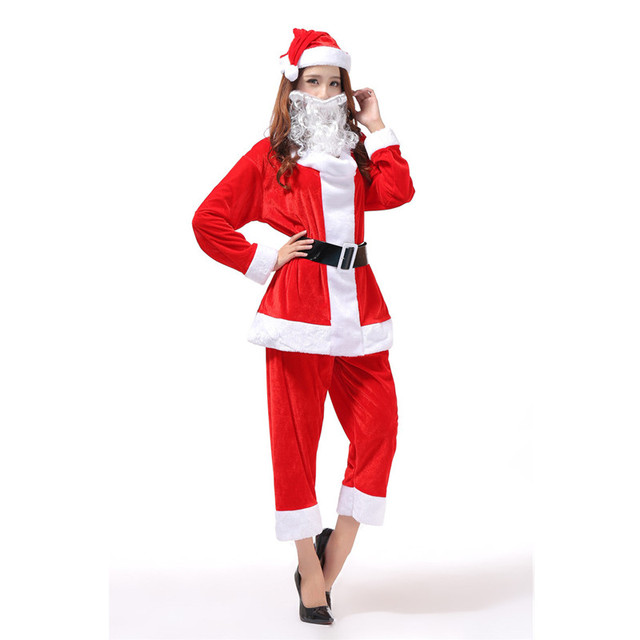 Christmas Adults Santa Claus Women Costume Outfits Santa Claus Costume X84  sc 1 st  AliExpress.com : christmas womens costumes  - Germanpascual.Com
