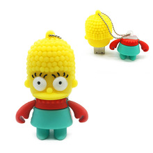 Cartoon USB Flash drive simpson family Bart usb flash U disk 4gb 8gb 16gb 32gb 64gb Homer Abraham krusty Free Shipping