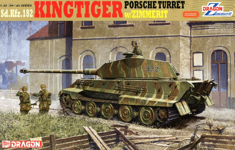 DRAGON 6302 1 35 Scale Sd Kfz 182 KingTiger Pors che Turret w ZIMMERIT