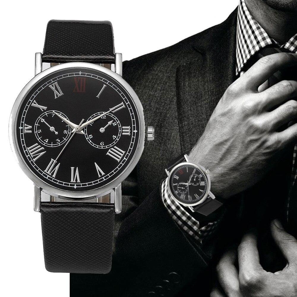 где купить 2018 Luxury Fashion Men Watches Quartz Retro Design Leather Band Analog Alloy Quartz Wrist Business Dress Watch Relojes Hombre по лучшей цене