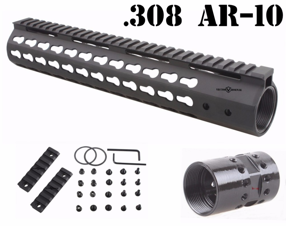 Vector Optics AR10 308 Slim KeyMod 12'' Inch Free Float Handguard Picatinny Rail Mount Scope Bracket vector optics tactical 308 slim keymod 17 inch free float handguard picatinny rail mount scope bracket fit ar10 ar 10 308