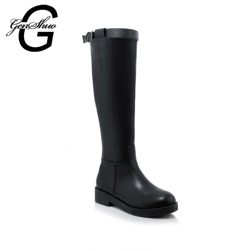 GENSHUO 2017 Faux Suede Slim Boots Sexy over the knee high women snow boots women's fashion winter thigh high boots shoes woman 2017 sexy thick bottom women s over the knee snow boots leather fashion ladies winter flats shoes woman thigh high long boots