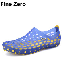 Fine Zero Famous Brand Male Hollow Casual Men 2017 font b Sandals b font Fashion Plastic