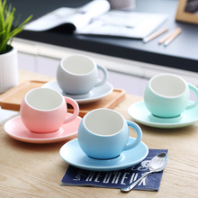 Europe coffee cup set Grinded Spherical cups and saucers Ceramic s mug English afternoon Home drink Party Gifts