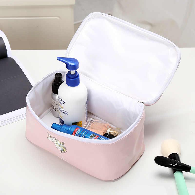 Unicorn תיק קוסמטי גדול קיבולת גבירותיי איפור תיק מארגן עבור נשים טואלטיקה תיק נסיעות ערכות קוסמטיקאית אחסון שקיות