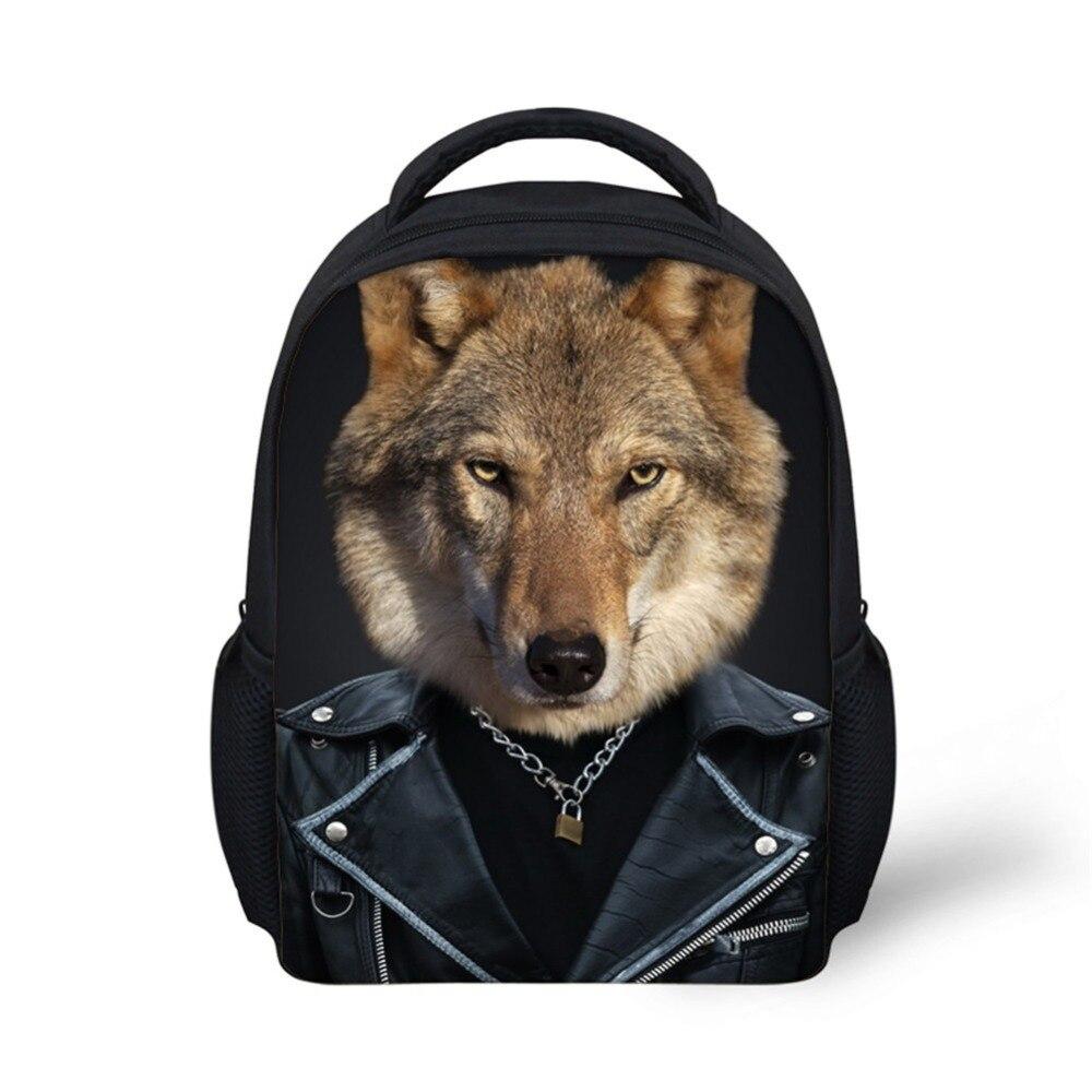 Cool Children School Bags 3D Animal Leopard Grain Print School Bag for Teenagers Boys Girls Cool Kids Schoolbag Book Bags