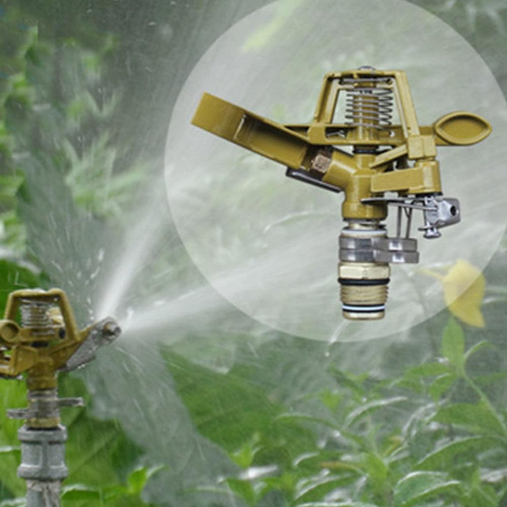 2 pcs Rotatif Gicleurs D'eau Automatique En Métal de Spike Pelouse Herbe Hourse 360 Degrés Impulsion de L'eau D'arrosage Pulvérisation de longue distance dans Arroseurs De Jardin de Maison & Jardin