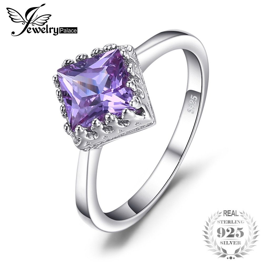 JewelryPalace 1.4ct Classic Created Alexandrite Sapphire Solitaire Wedding Ring Real 925 Sterling Silver Fine Accessories Ring jewelrypalace classic wedding solitaire ring for women pure 925 sterling silver simple wedding jewelry fashion gift