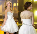 Exquisite Beaded Crystal White Cocktail Dress Sweetheart Backless Short Prom Party Dresses Vestido De Festa Girl Homecoming Gown