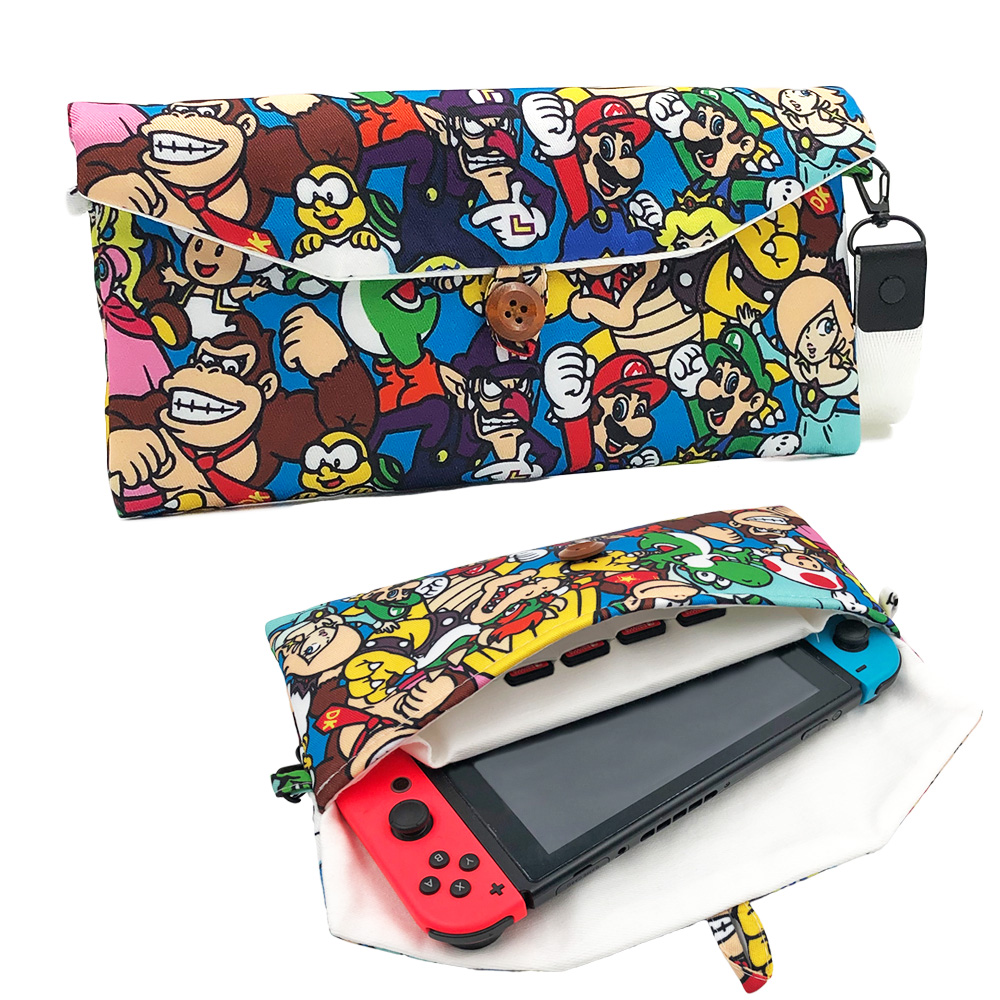 Nintend Switch Carry Case Cotton Portable Storage Case Pouch Bag for Nintendos Switch Console with 6 Game Cards Storing