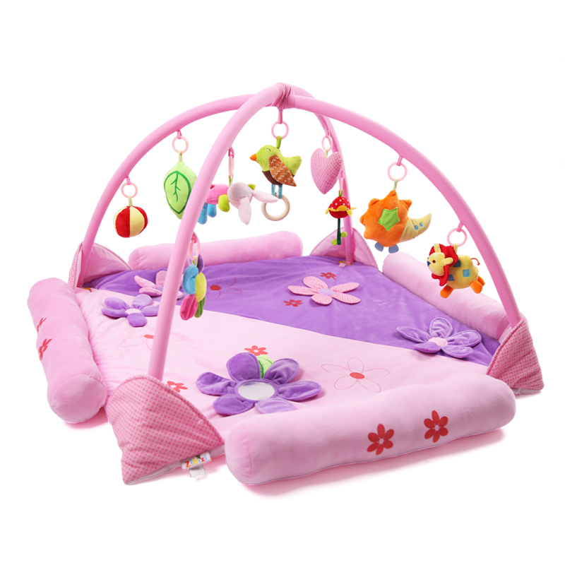 Baby Playpens Fence Children Kids Place Playpen Activity Gear Environmental Protection Barrier Game with 9pcs Hanging Bells Gift