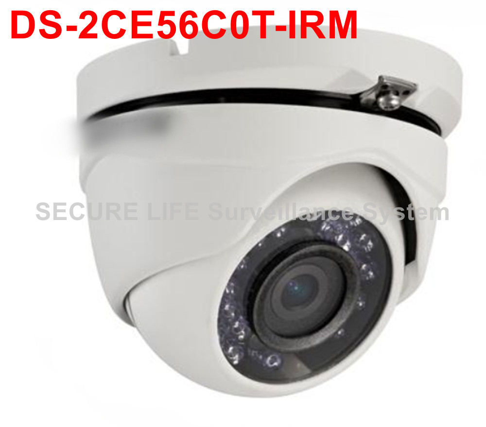ФОТО Free shipping DS-2CE56C0T-IRM HD720P 20M IR Turbo HD DOME Camera IP66