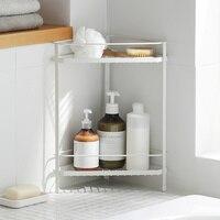 Kitchen floor racks wrought iron bathroom rack corner tripod desktop storage shelf wx10101726