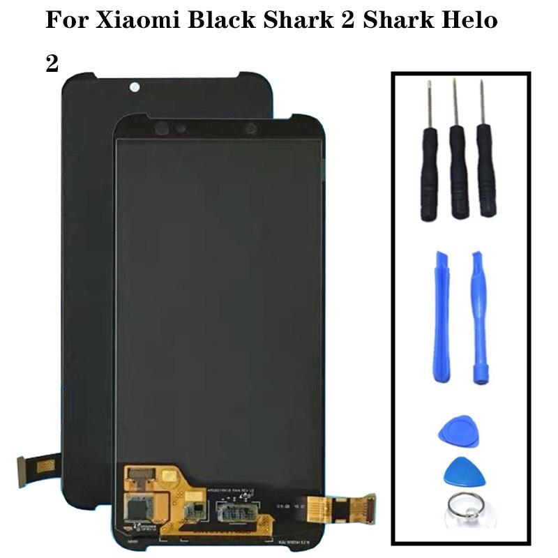 Xiaomi noir requin 2 Lcd écran d'affichage + tactile verre numériseur assemblée pièces de rechange BlackShark2 Helo 2 Lcd AWM-A0