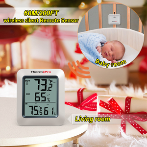 Image 5 - ThermoPro TP60S 60M Draadloze Digitale Kamer Thermometer Indoor Outdoor Thermometer Vochtigheid Monitor Weerstation