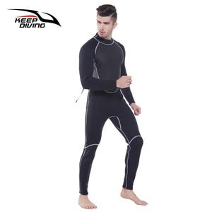 Image 1 - 本 3 ミリメートルネオプレンウェットスーツワンピース開閉ボディ男性スキューバダイビングサーフィンためシュノーケリングスピアフィッシングプラスサイズ