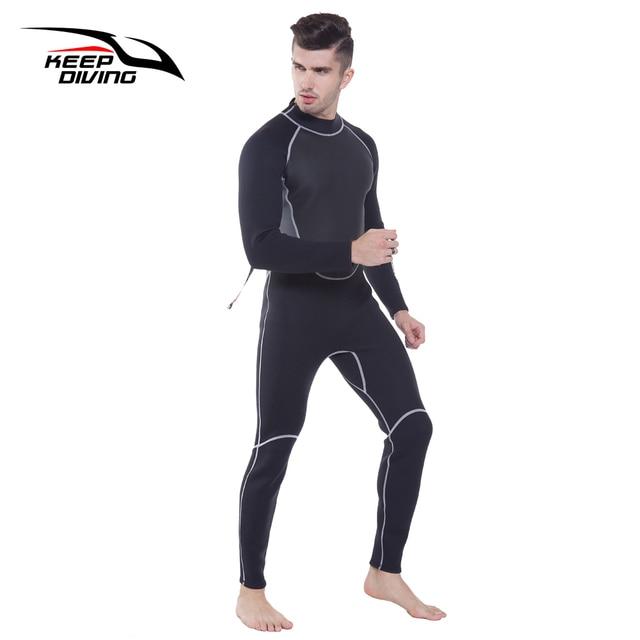 Terno de mergulho genuíno de 3mm, neoprene, peça única e perto do corpo, para homens, mergulho, surf, mergulho tamanho grande