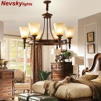 Vintage light chandelier lighting pendant lamp for living room chandeliers ceiling Retro ceiling chandelier copper chandeliers