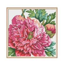 Joy Sunday 5D Diamond Painting Flowers Peony Patterns Icon Special Shaped Embroidery Picture of Rhinestones