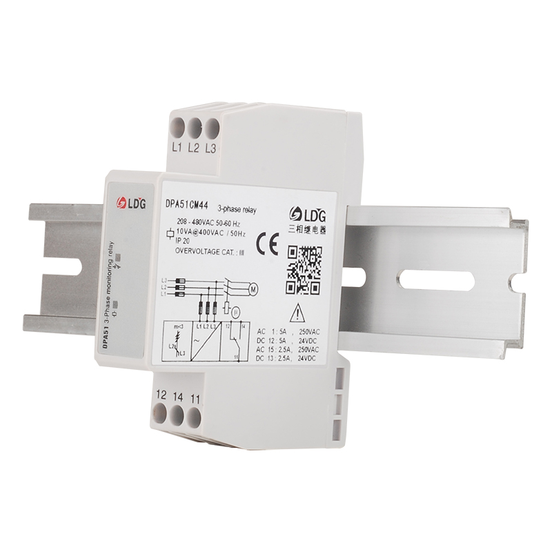 DPA51CM44 Three 3 Phase Sequence Protection Relay 5A 220V 24VDC 250VAC DIN Rail Phase Failure Monitoring SPDT Control Relay 5pcs реле relay 3 3 2 5a