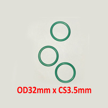 OD32mm x CS3.5mm FKM viton green color rubber washer o ring seal gasket
